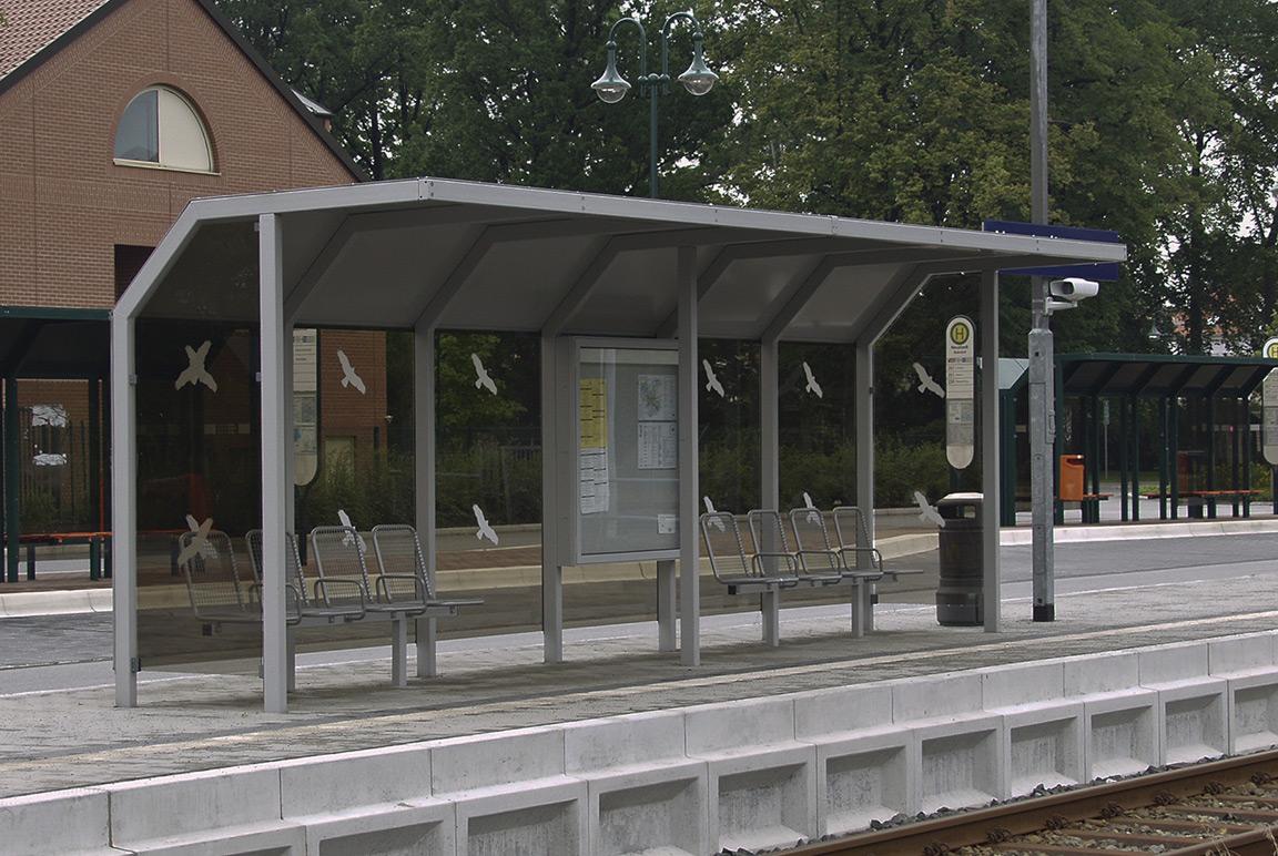 Copertura area di attesa stazione