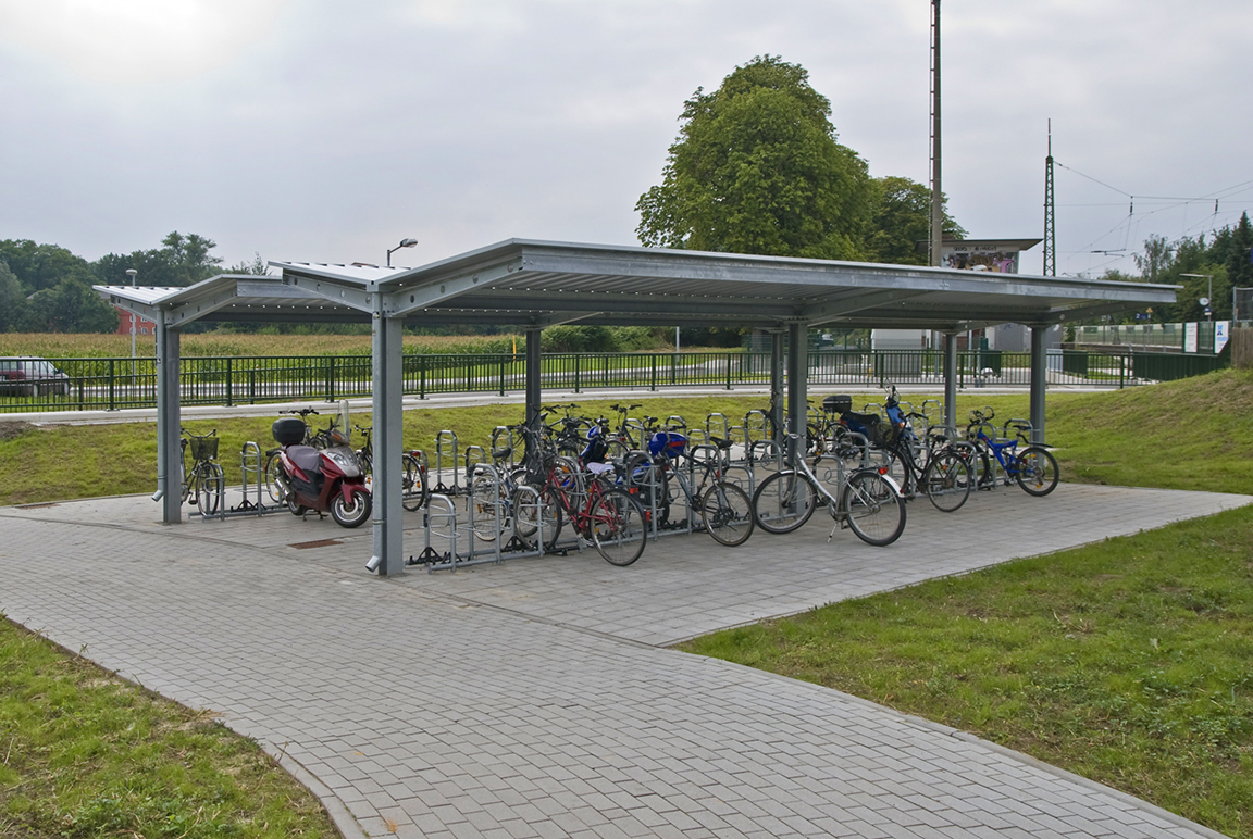 Parcheggio per bicilette Orion con copertura